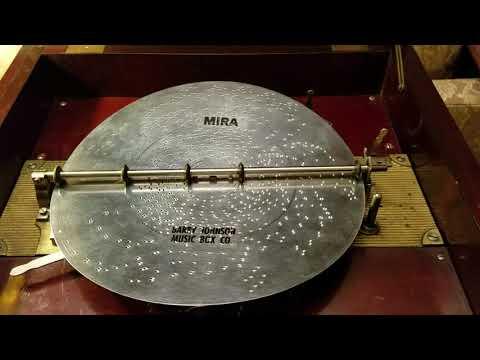 "Empress (Mira) 12"" Music Box Plays Disc 246, ""Angel's Serenade."""