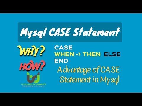 MySql CASE Statement | CASE Statement Way Of Handling If/then Logic