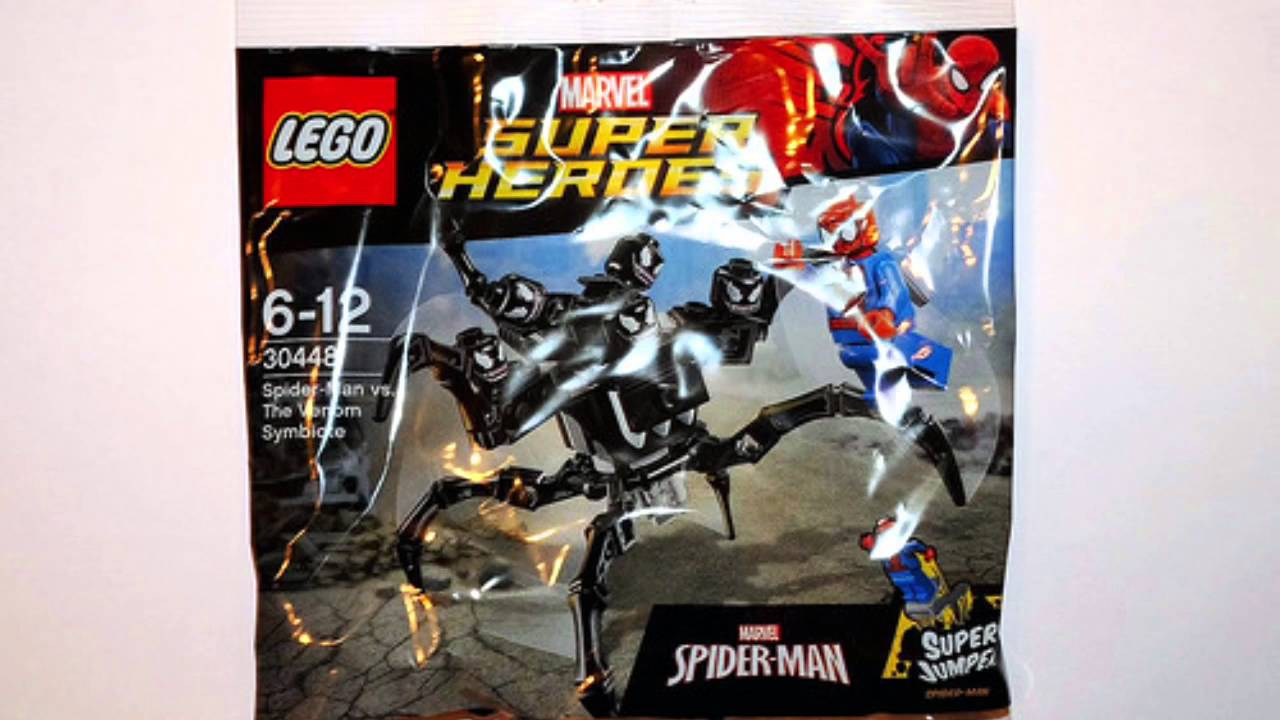lego marvel superheroes spiderman vs venom symbiote 30448