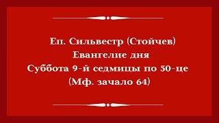 Еп. Сильвестр (Стойчев). 8 августа 2020 года. Евангелие дня с толкованием