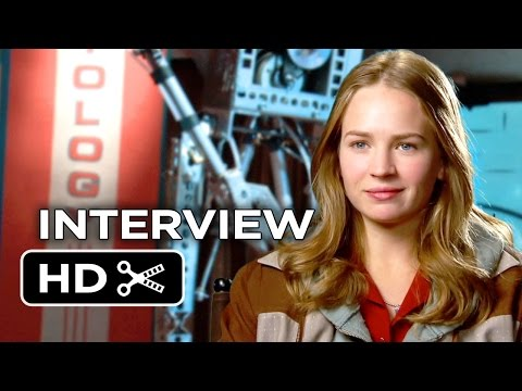 Tomorrowland Interview - Britt Robertson (2015) - George Clooney, Hugh Laurie Movie HD