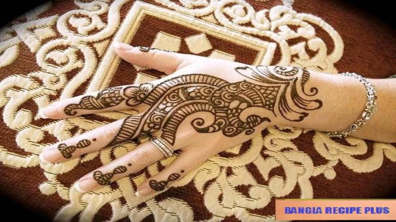 Mehndi Hands With Mobile : Mehndi design bangla simple arabic designs for hands youtube