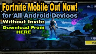 How to download Fortnite Mobile for All Android Devices without Invite/playing fortnite on oneplus 6