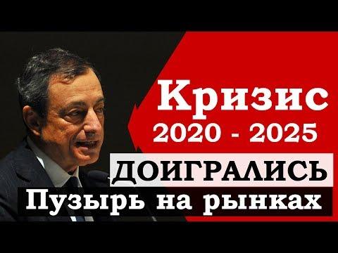 Кризис 2020-2025. Пузырь на биржах. Обвал финансовых рынков