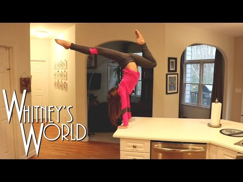 Press Handstands on the Kitchen Counter | Whitney's Kitchen Gymnastics