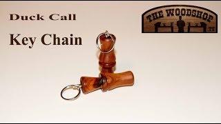Wood Turning Mini Duck Call Key Chain