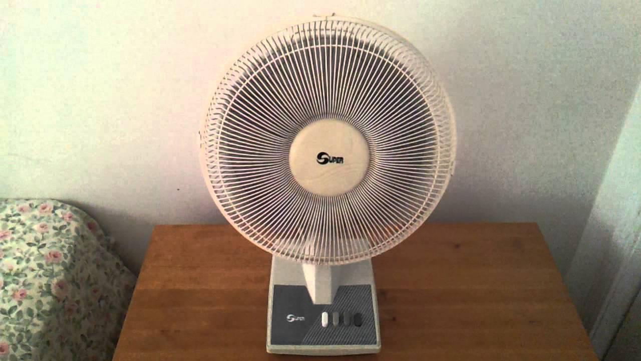 1990 S Or 2000 Super 12 Inch Oscillating Desk Table Fan Model 12c You