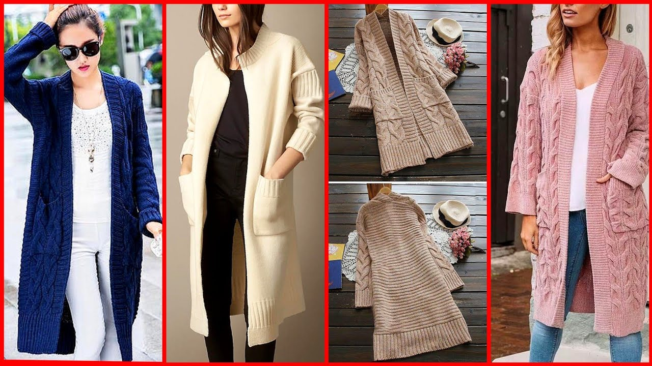 (2020) new arrival latest style of cardigans sweater's design and ideas for girls and women