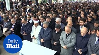 Mourners in Turkey held symbolic prayer in honour of Khashoggi