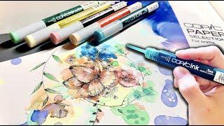 コピックの液体だけで絵を描いたら美しすぎた…。