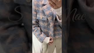 [겨울코디]크롭 하운드 울자켓 하프문JK