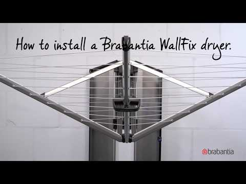 Brabantia WallFix | How to use and install Brabantia WallFix for easy laundry drying | Brabantia |