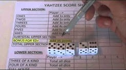 How to Win at Yahtzee - Tips and Tricks - Step by Step Instructions - Tutorial - 5 Dice Game