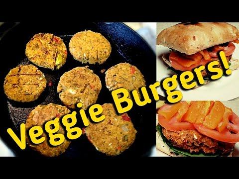 Chickpea Sweet Potato Veggie Burgers-100% Vegan