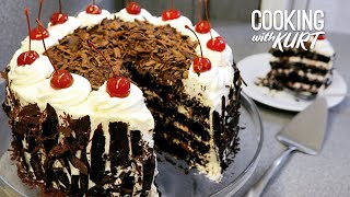 Red Ribbon Black Forest Cake - Filipino Favorite Cherry Liqueur Chocolate Cake | Cooking with Kurt