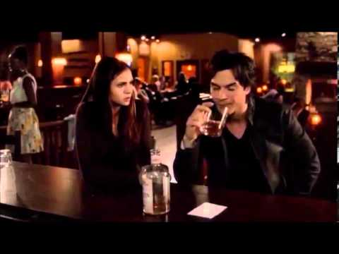 The Vampire Diaries season 4 episode 2 - Elena feeds off Damon