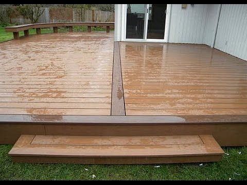 how to install outdoor wood floor - YouTube