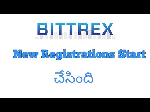 BIttrex is started New Registrations|Telugu|Telugu Crypto Wo