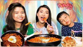 Spicy noodles with tteokbokki🥢 (amadi mamit ta morok chonggrey 😱)