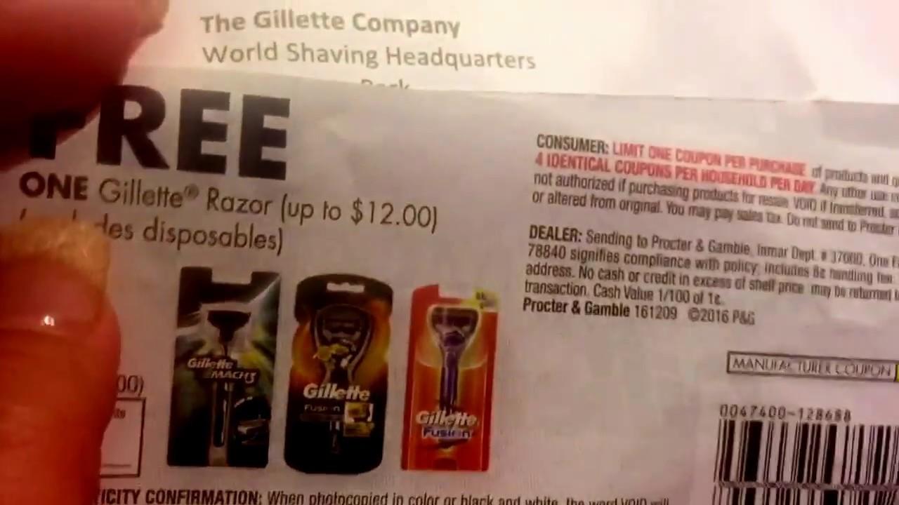 Gillette free Razor - YouTube