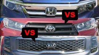 2020 Kia Telluride vs 2019 Toyota Highlander vs 2019 Honda Pilot
