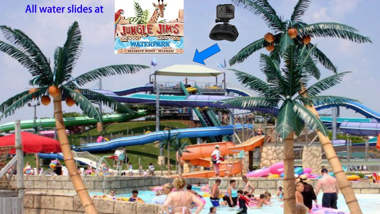 All Water Slides At Jungle Jim S Waterpark Rehoboth Beach Delaware