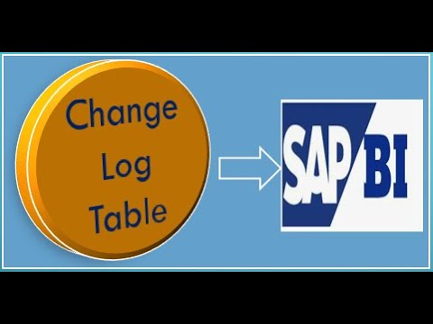 What is Change log table in SAP BI and how it works