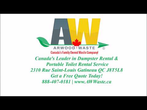 Gatineau QC Dumpster Rentals & Lowest Price to Rent Portable Toilets in Canada 888-407-0181