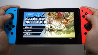 SNK 40th ANNIVERSARY COLLECTION Nintendo Switch gameplay