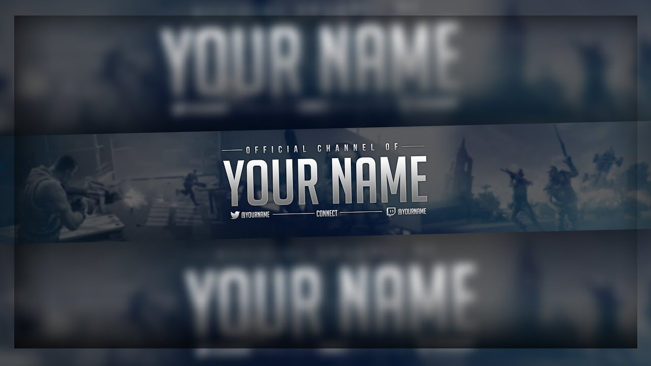 gaming youtube banner free template free download youtube