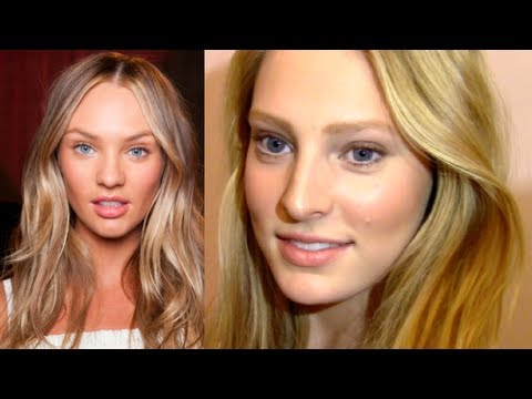 candice swanepoel natural makeup amp hair tutorial youtube