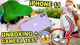 LAVENDER iPHONE 11 UNBOXING + REVIEW + CAMERA TEST | Spilling the Tea on the iPhone 11 (literally)
