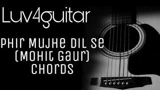 Phir mujhe Dil se | Mohit Gaur | Guitar chords