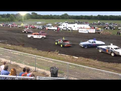 Lancaster Events Center, Lincoln, Nebraska - Figure 8 racing action