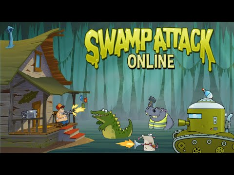 """Игра """"Болотная Атака"""" (Swamp Attack) - прохождение"""