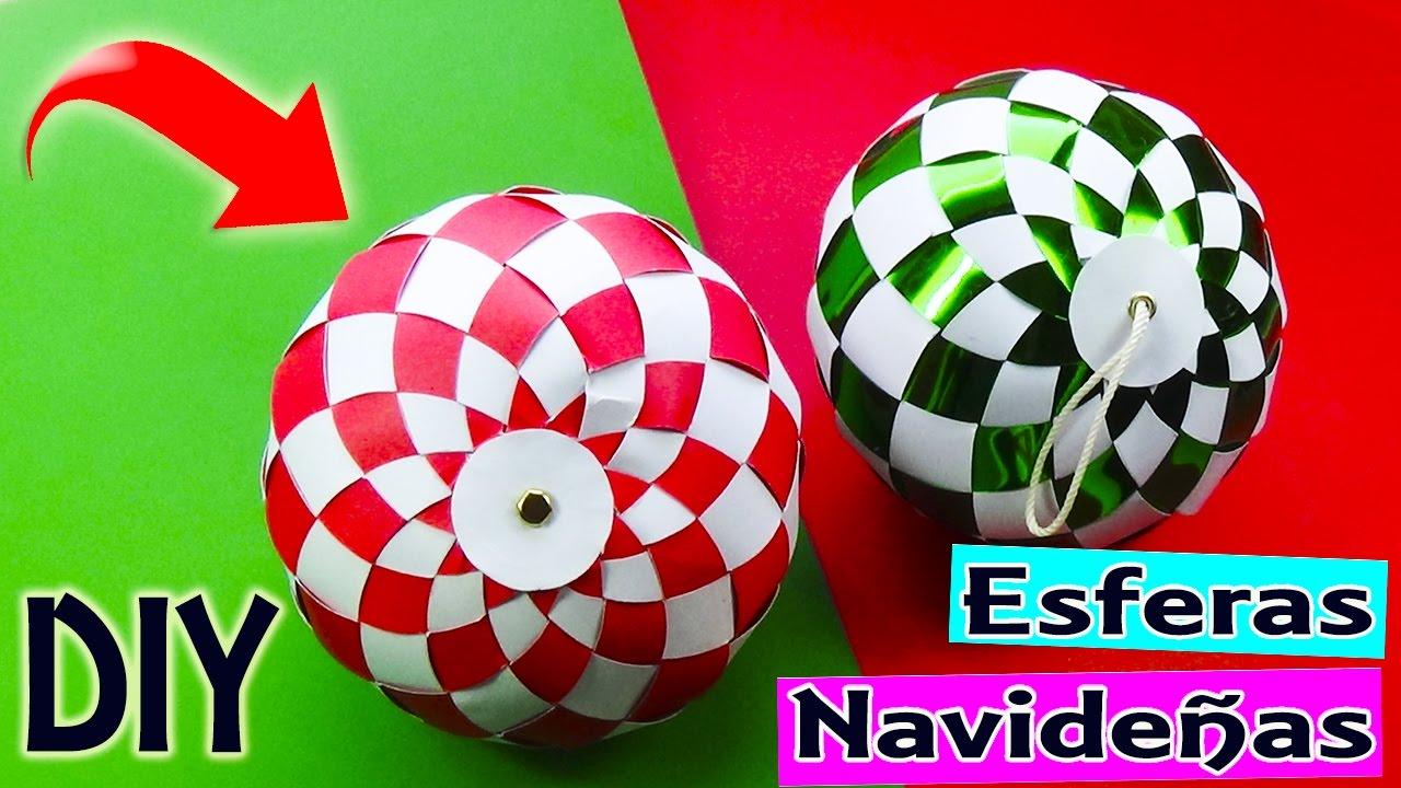 Tutorial esferas manualidades navide as con cartulina for Manualidades navidenas con cartulina