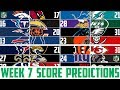 NFL Week 7 SCORE PREDICTIONS 2018 - NFL Picks Against the Spread WEEK 7 (NFL BETTING)