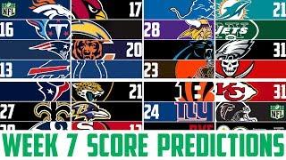 NFL Week 7 SCORE PREDICTIONS 2018 - NFL Picks Against the Spread WEEK 7 (NFL BETTING)