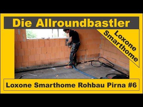 Loxone Smarthome - Rohbau in Pirna #6 - Schlitze fräsen und Dosen eingipsen