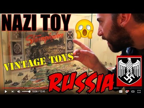 NAZI TOYS IN RUSSIA TOY HUNT ST PETERSBURG ANTIQUE JUGUETES ANTIGUOS SOVIET ERA USSR SPACE ROBOT