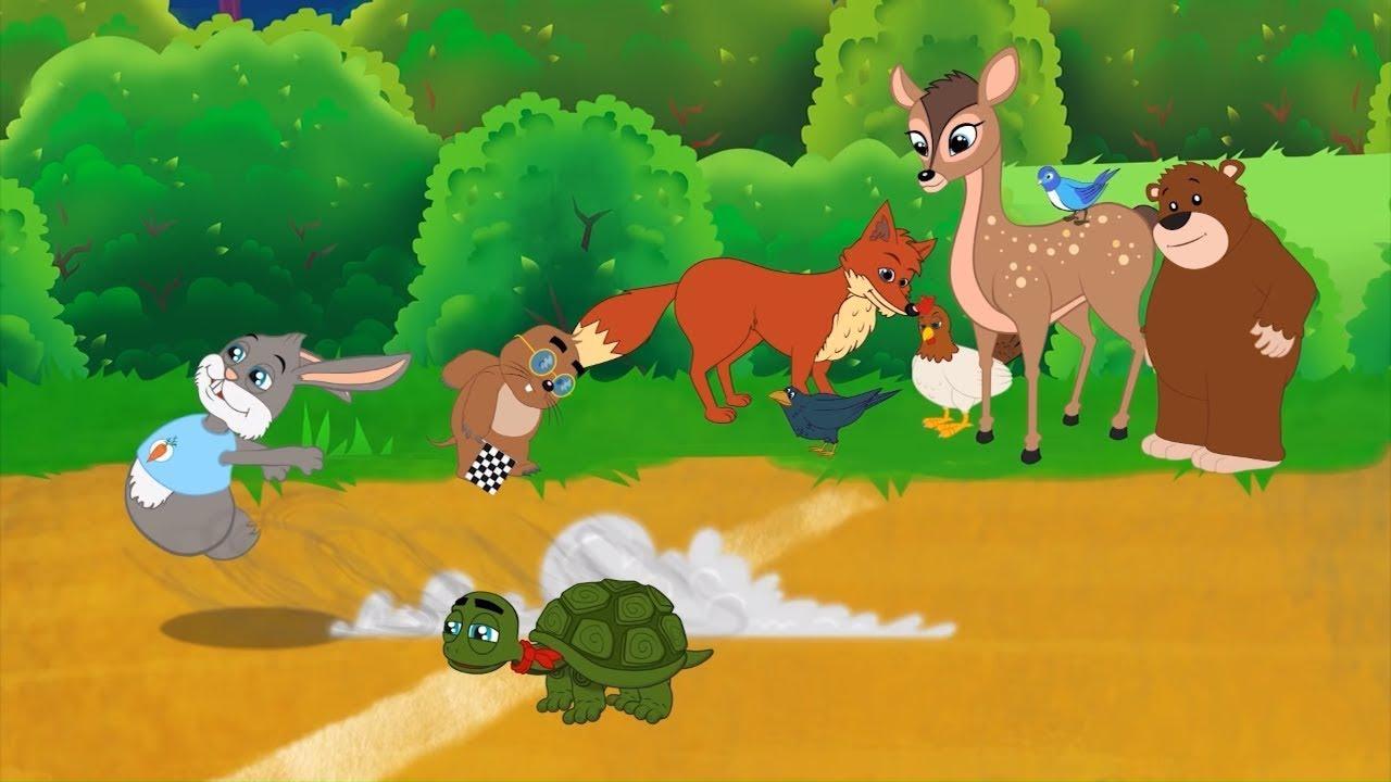 Черепаха и заяц   Сказки для детей   Мультик   сказки на ночь   Сказки для детей и Мультик