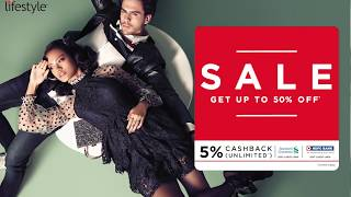 Upto 50% Off at Lifestyle Sale!