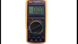Цифровой мультиметр DT9208A. Видеообзор от Интернет-магазина Electronoff.(Не часто измерительное оборудование включает разумное соотношение цена+функциональность+качество. Цифров..., 2013-07-02T18:28:42.000Z)