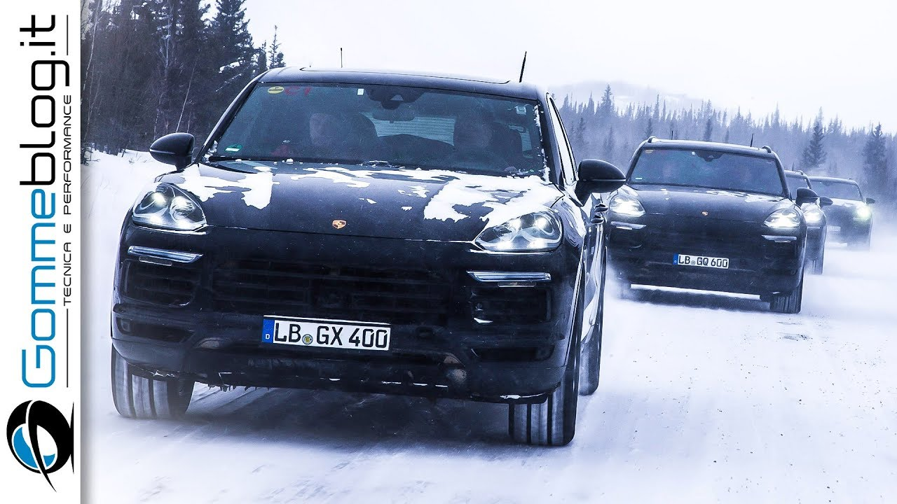 All New 2018 Porsche Cayenne 3rd Generation Extreme Test Snow Sand Road