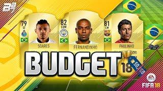 50K BUDGET BRAZIL SQUAD BUILDER! | FIFA 18 ULTIMATE TEAM