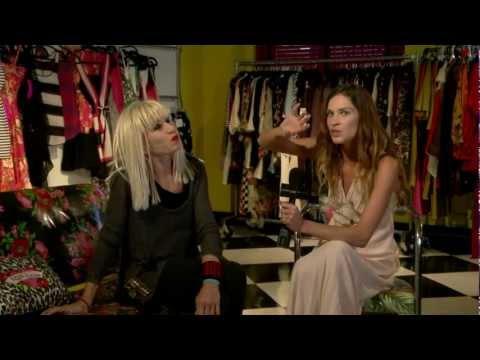 Erin Wasson with Betsey Johnson Fashion New York 2012