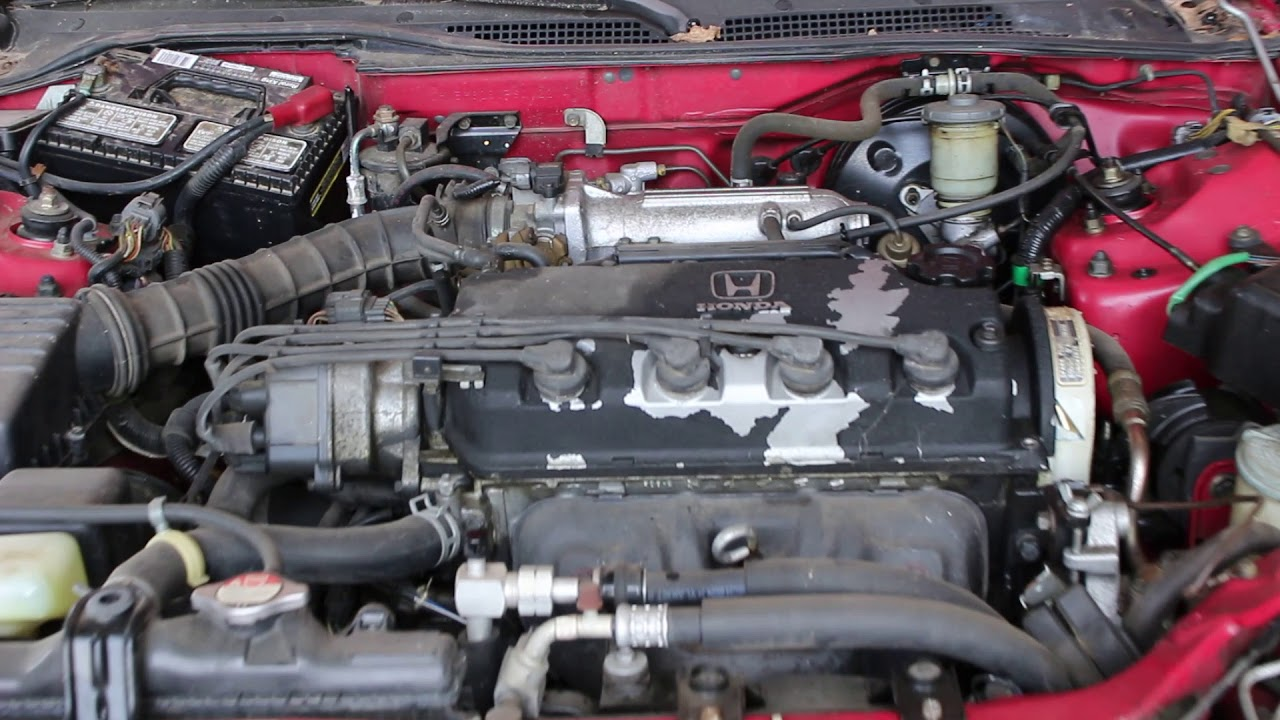 1993 Honda Civic Del Sol Si 1 6l Engine Run Video Stock R012214