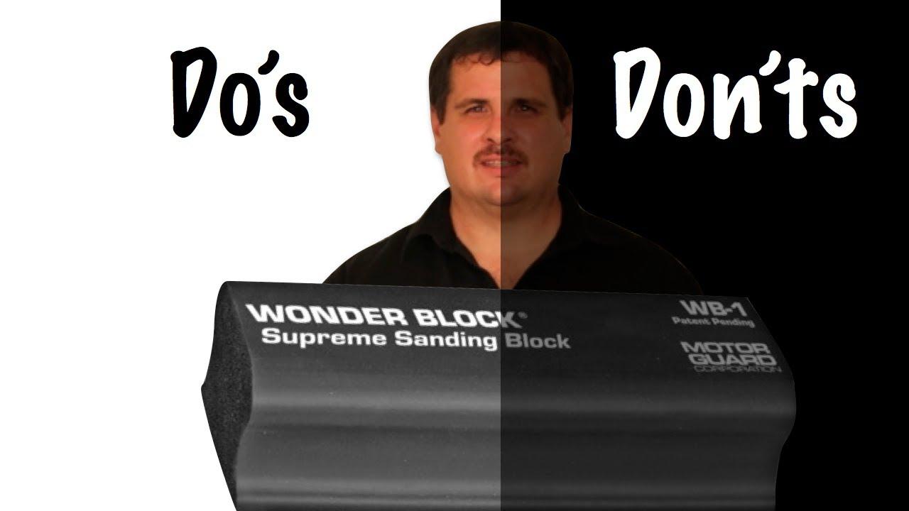Block Sanding Primer Do's and Don'ts