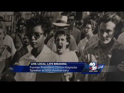 "Bill Clinton speaks at ""Little Rock Nine"" event"