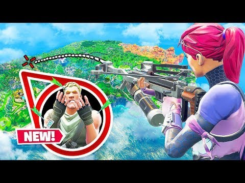 *NEW* CROSSBOW World Record LONGEST Shot in Fortnite Battle Royale!
